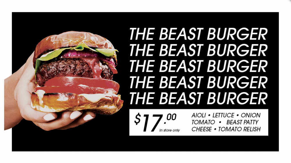 Soul Burger – The Beast Burger – $17.00 – Instore only!